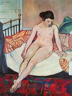 Nu à la couverture rayée, 1922 aka my diss painting!